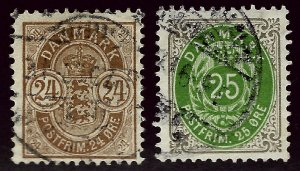 Denmark SC#49-50 Used F-VF SCV$25.50...Your Price, Your Deal!!