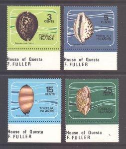 Tokelau Scott 41/44 - SG41/44, 1974 Shells Set MH*