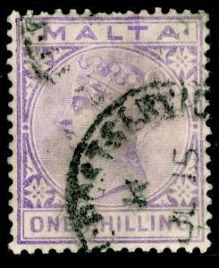 MALTA SG29, 1s pale violet, USED. Cat £21.