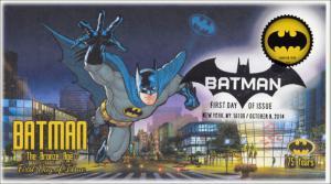 SC 4931, 2014, Batman, Bronze Bat Signal, Pictorial Postmark, FDC, 75th Anniv