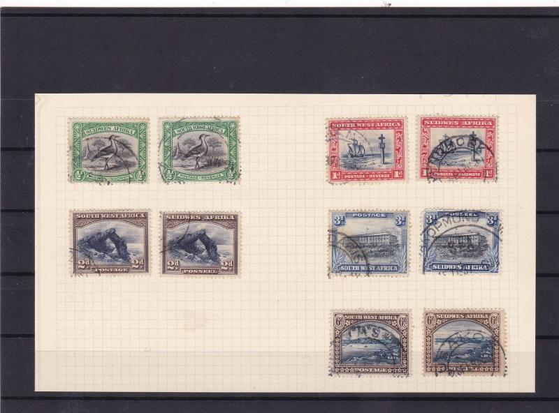 south west africa early used stamps ref 10436