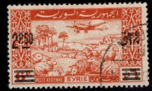 Syria Scott C149 Used surcharged 1948 Airmail stamp