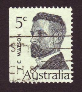 Australia 1969 Sc#452 SG#448 5c Prime Minister JC Watson USED