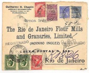 BRAZIL AVIATION 1931 *Florianapolis* Cover FLOUR MILLS Rio Air Mail AE116