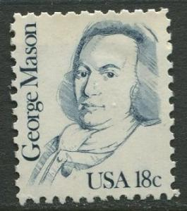 USA - Scott 1858 - Great Americans -1980- MNG - Single 18c Stamp