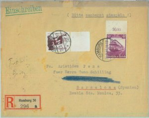85191 - GERMANY - POSTAL HISTORY -  Registered COVER to SPAIN 1935 - TRAINS
