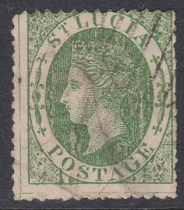 ST LUCIA  An old forgery of a classic stamp.................................D279