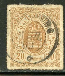Luxembourg # 21a, Used. CV $ 8.00
