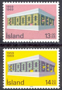 Iceland Sc# 406-407 MNH 1969 Europa