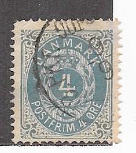 Denmark  #26a 4o  gray blue   (U) CV $1.10