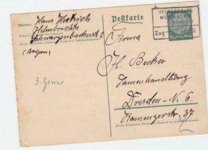 Germany Helmbrechts 1936   Bahnpost railway stamps post card ref r20156