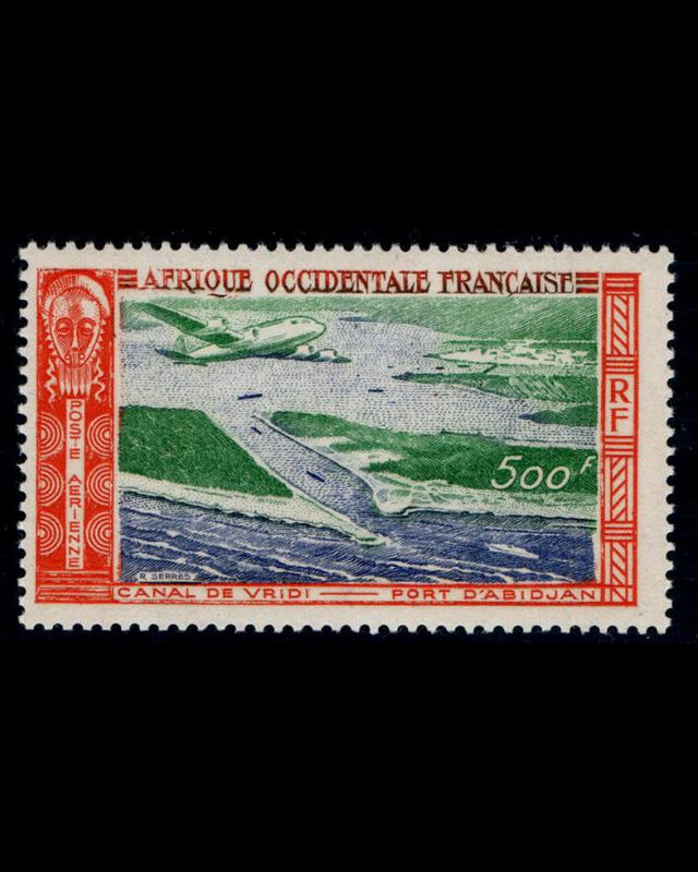 VSM:FRENCH W AFRICA 1951 OG LH FRESH SCOTT # C16 $ 32.50 LOT # VSAFWAF1951AY-B90