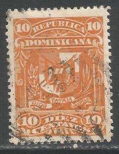 DOMINICAN REPUBLIC 99A VFU ARMS X731