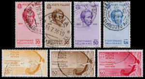 Italy Scott 349-352, C79-C81 (1935) Used H F-VF, CV $96.60 B