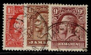JAMAICA GV SG108-110, complete set, FINE USED.