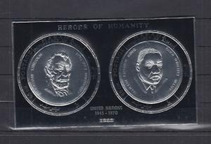 MANAMA SHEET SILVER LINCOLN PRESIDENTS LUTHER KING