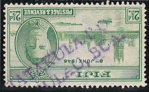 FIJI c1946 2½d Victory - scarce MATAKULA PO straight line cancel...........A555