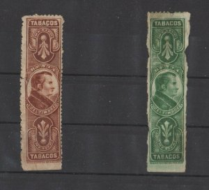 Mexico Tobacco Tax Stamps 1895-1910 Lot of 2 -DCB