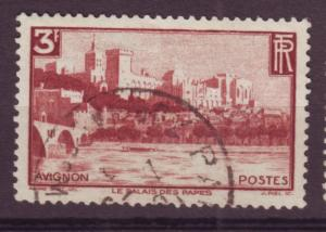 J12337 JLstamps 1938 france part of set used #344 palace of popes