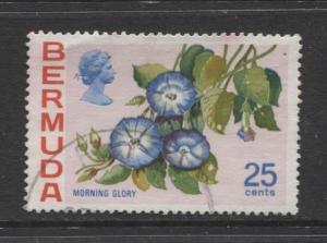 Bermuda - Scott 325 - Flowers Issue -1975 - VFU - Single 25c Stamp