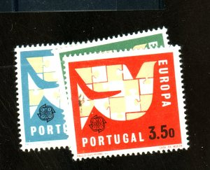 Portugal #916-18 MINT VF OG LH Cat $ 6.25