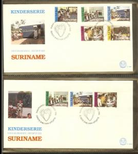1986 - Rep. Surinam FDC E109+A - Childhood - Children stamps -  Activitys on ...