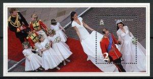Guernsey Royalty Stamps 2011 MNH Royal Wedding Prince William & Kate 1v M/S