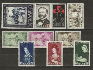 Saar B91, 95, 104, 108 111-113, & 114-116 Mint Hinged  411022