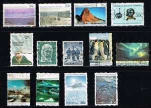 Australian Antarctic Territory MiniLOT 13 Different Used