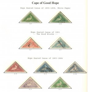 Cape of Good Hope --  Amazing -- Mint and used collection