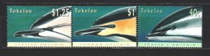 Tokelau. 1996. 234-36 from the series. Dolphins, fauna. MNH.