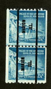 US Stamps # 1054A VF OG NH PRE-CANCEL LARGE HOLES