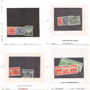 Lot of 297 Australia Mixed Condition Stamps #132779 X