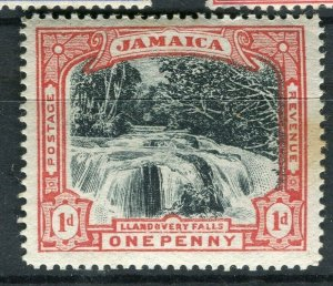JAMAICA; 1900 early Pictorial Falls issue Mint hinged 1d. value