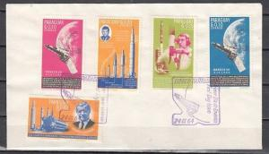 Paraguay, Scott cat. 836-840 only. Space issue with Kennedy. First day cover.