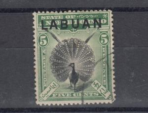 Labuan 1897 5c Green SG92a Postally Used J5009