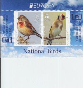 2019 Guernsey National Birds - Europa MS2  (Scott NA) MNH