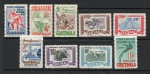 Guatemala - Sc# C188 - C196 MH (toned gum) /  Lot 0319162