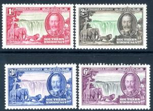 SOUTHERN RHODESIA-1935 Silver Jubilee Set of 4 Sg 31-34 MOUNTED MINT V16411
