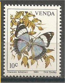 VENDA, 1980, MNH 10c, Butterflies, Scott 37