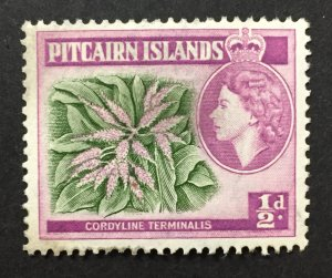 Pitcairn Islands 1957 #20, Plant, Used.