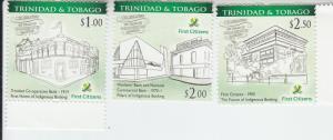2015 Trinidad & Tobago Indigenous Banking (Scott 908-10) MNH