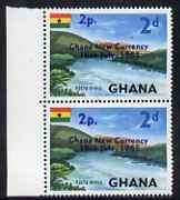 Ghana 1965 New Currency 2p on 2d Volta River marginal pai...