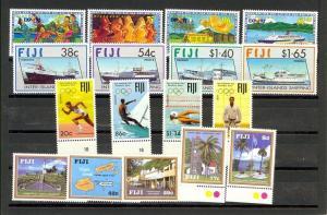 Fiji Scott 657-673 Mint NH (4 sets) Catalog Value $56.80