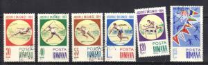 ROMANIA  SCOTT# 1654-59 1964 CTO BALKAN GAMES   SEE SCAN