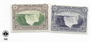 South Rhodesia #31-32 MH - Stamp - CAT VALUE $17.00