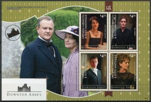 Grenada Grenadines 2014 MNH Downton Abbey Earl Grantham 4v MS I TV Series Stamps