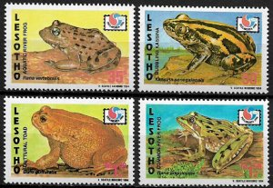 Lesotho #1011-4 MNH Set - Frogs