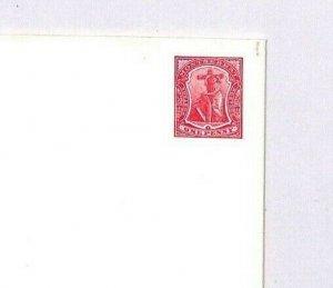 Montserrat Cover KEVII 1d Die Postal Stationery CROSS & HARP {samwells}BN100