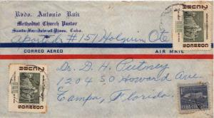 Cuba 1c Communications Building Postal Tax and 2c 'The Blind' by Vega (2) 195...